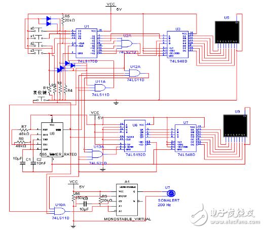 时序控制电路 - 三路抢答器电路设计方案汇总(三款模拟电路设计原理图图片