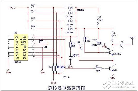 无线遥控开关电路图大全(六款电路图介绍)