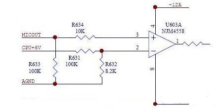 4558d前置放大电路图