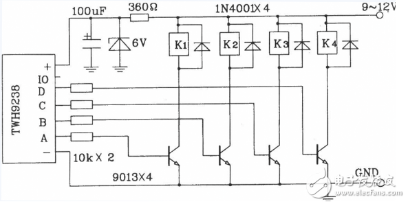 四路遥控开关电路图大全(六款模拟电路设计原理图详解)