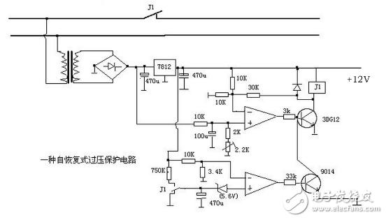 12v过压保护简单电路图 三 12v过压保护简单电路图大全 四款模拟电路设计原理图详解图片