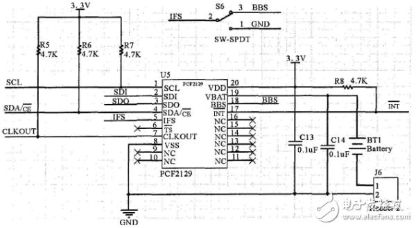 内置晶振极高精度的实时时钟芯片PCF2129介绍
