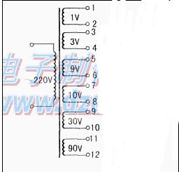 简单材料制作多电压变压器