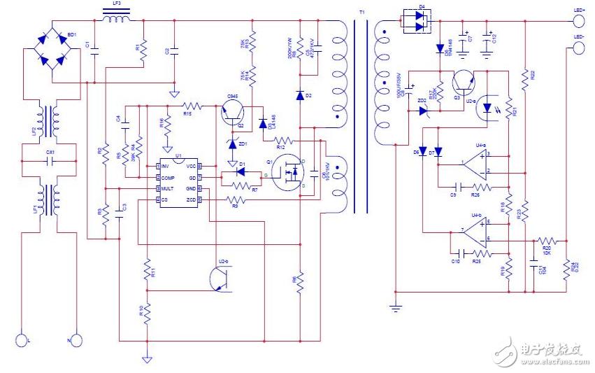 led灯220v电源电路图大全(七款模拟电路设计原理图详解)