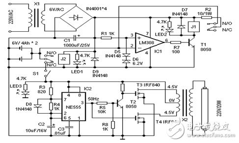 led应急灯电源电路图大全(六款模拟电路设计原理...
