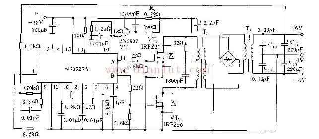 sg3525推挽应用电路图