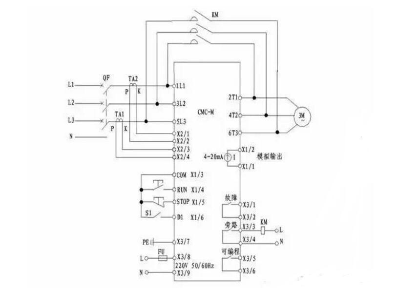 软启动器工作原理与主电路图_软启动器接线实物图