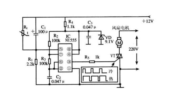 ne555调温电路图大全(六款ne555调温电路)