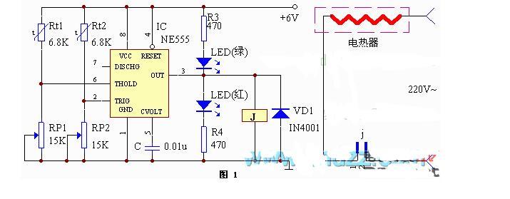 ne555调温电路图大全