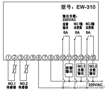 温度控制器接线方法_温度控制器接线图
