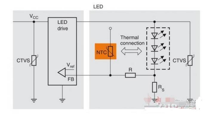 ntc热敏电阻测温电路图大全