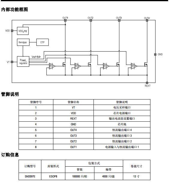 钲铭科恒流IC SM2097E规格书