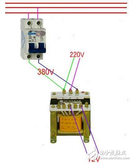 变压器接线方式图解 - 380v变36v变压器接线图