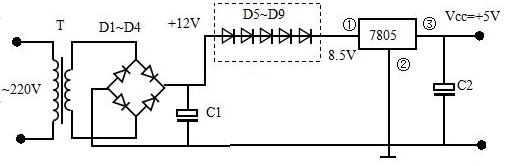 12伏变5伏简易电路图大全