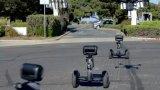 将平衡车改造成立可以自动巡逻的保安机器人 园区内自动巡逻