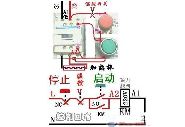接触器接线口诀_接触器接线方法说明_220v接触器实物接线图