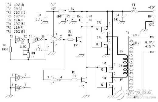 场效应管逆变器电路图分享