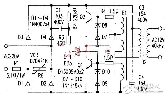 石英灯电子变压器电路原理