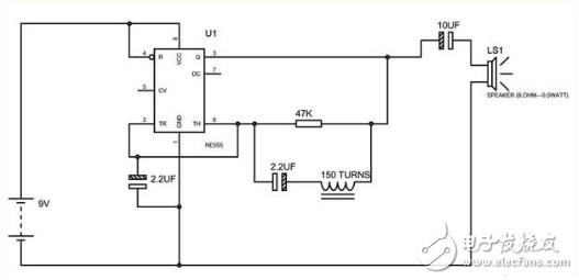 555金属探测器电路