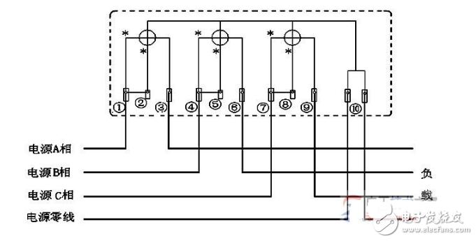 三相电表怎样安装,安装三相四线电度表图解