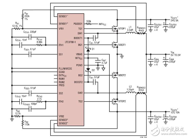12v转24v升压器电路图大全(六款12v转24v升压器电路原理图详解)