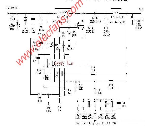 12v升压电路图汇总大全(十款12v升压电路原理...