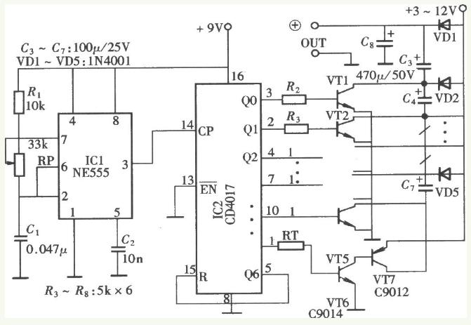 自制电容升压电路图大全(五款自制电容升压电路原理...