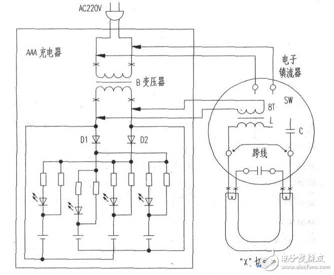 40w电子镇流器电路图(四) - 40w电子镇流器电路图大全