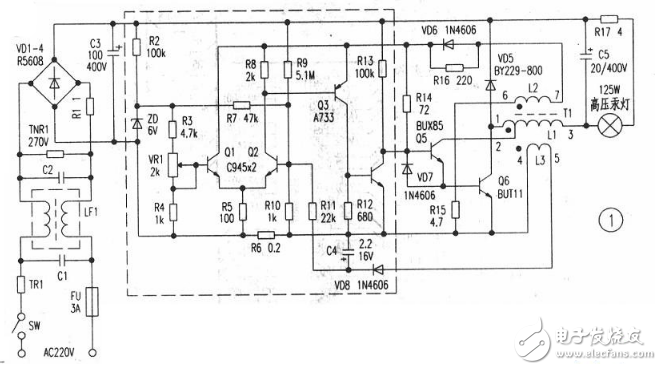 55w电子镇流器电路图(六款55w电子镇流器电路原理图详解) - 全文