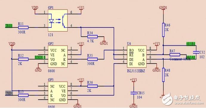 485通讯协议怎么使用(传统光电隔离的典型电路实例)