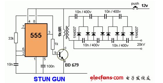 12v升压到20000v电路图大全(六款升压电路...