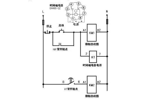 时间继电器种类和接线图及原理