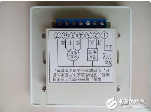 中央空调温控器接线图