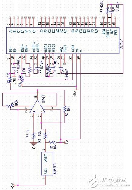 基于icl7107的温度计的设计