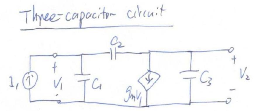 基本π网络之三电容电路和零极点分析