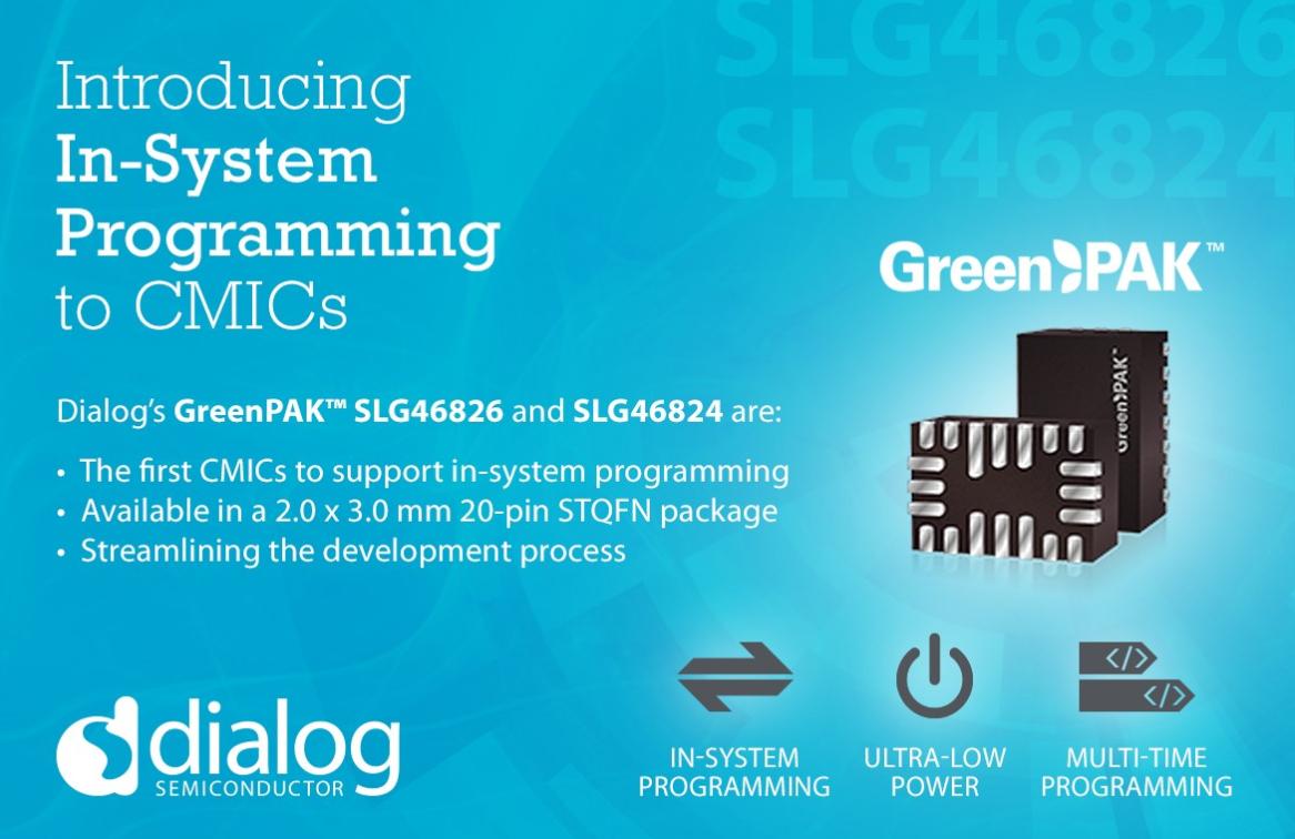 Dialog推出首款具有系统在线编程功能的可配置混合信号IC
