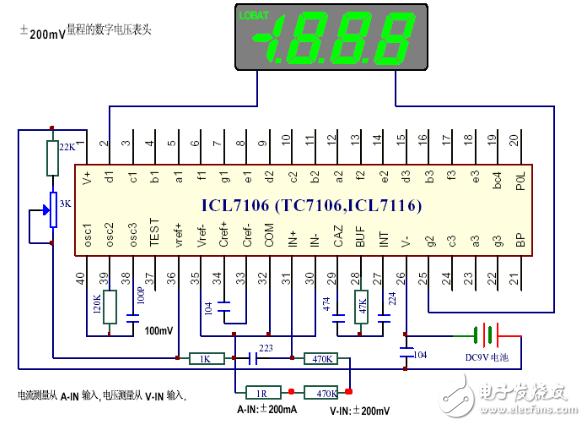 icl7107电压表电路图(五款icl7107电压表电路设计图详解)