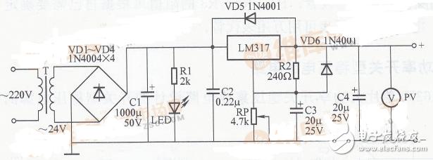 简易数字电压表电路图大全(六款模拟电路设计原理图...