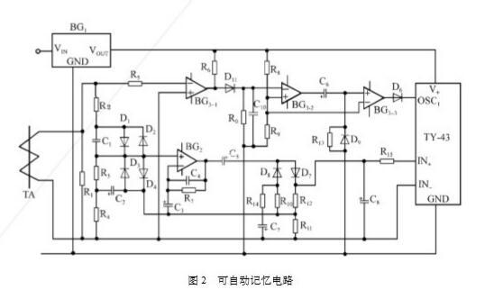 采用ICL7107实现测量值自动记忆电路