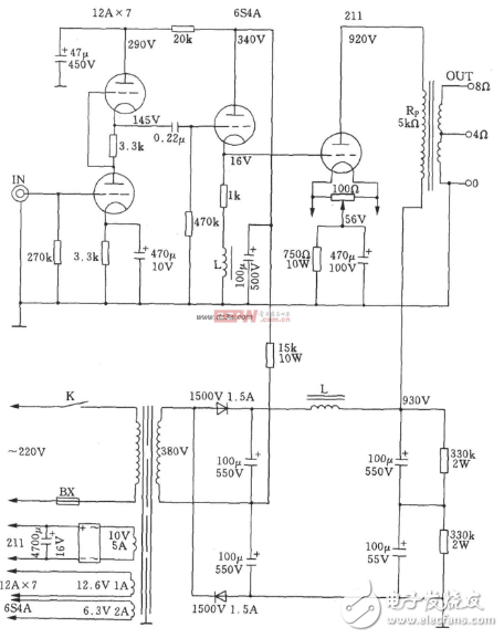 211电子管功放电路图大全 八款模拟电路设计原理图详解 全文图片