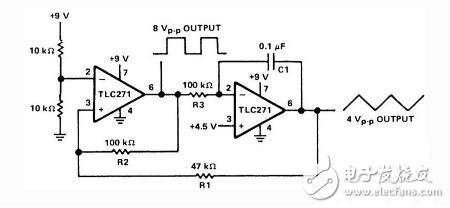 单电源供电的信号(函数)发生器电路图介绍