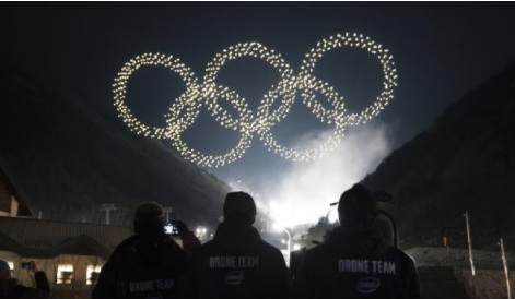 英特尔无人机灯光秀在2018年平昌冬季奥运会上打破吉尼斯世界纪录