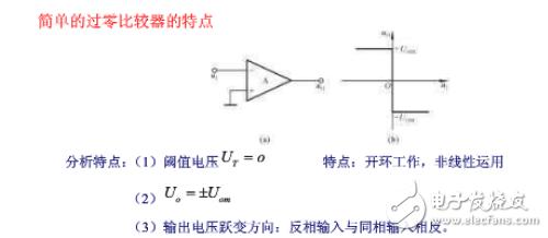 过零比较器的原理及特点详细介绍