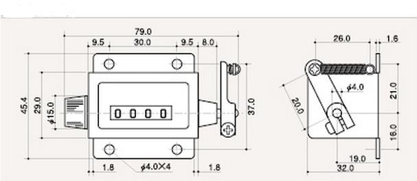 机械计数器结构及原理图