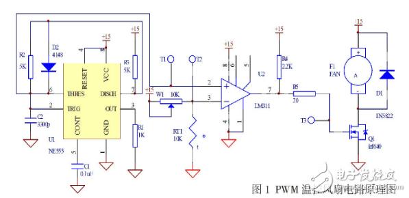 一种简易PWM温控风扇电路设计