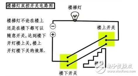 楼梯开关双控电路图 五 楼梯开关双控电路图大全 七款楼梯开关双控电