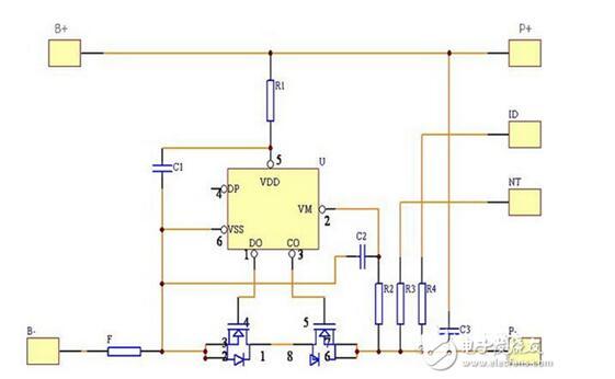 36v锂电池保护板接线