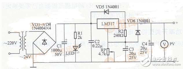 最简单的稳压电路图大全(六款最简单的稳压电路设计...
