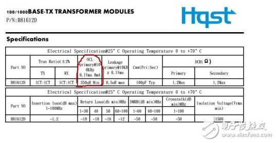 网络变压器工作原理及内部原理