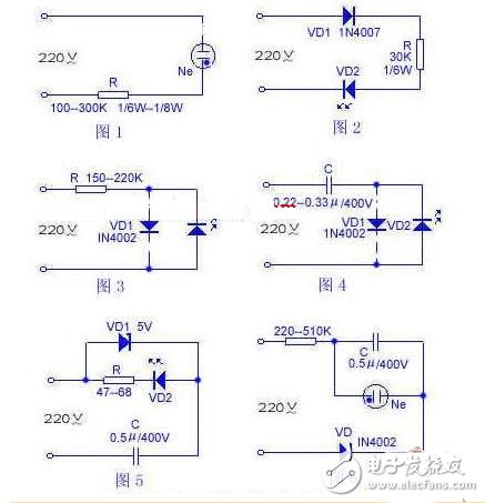 led指示灯电路图大全(八款led指示灯电路设计原理图详解)